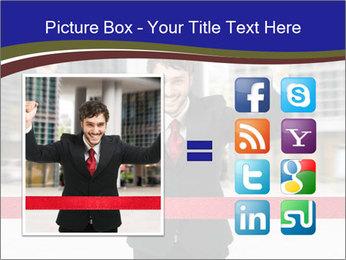 Active businessman running PowerPoint Template - Slide 21