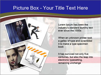 Active businessman running PowerPoint Template - Slide 23