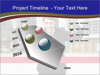 Active businessman running PowerPoint Template - Slide 26