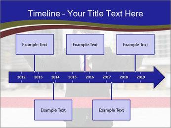 Active businessman running PowerPoint Template - Slide 28