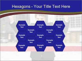 Active businessman running PowerPoint Template - Slide 44