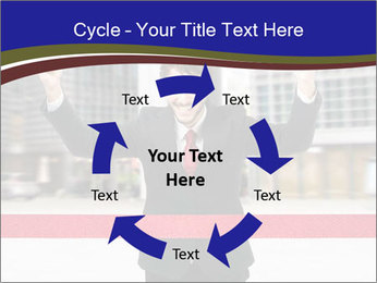 Active businessman running PowerPoint Template - Slide 62