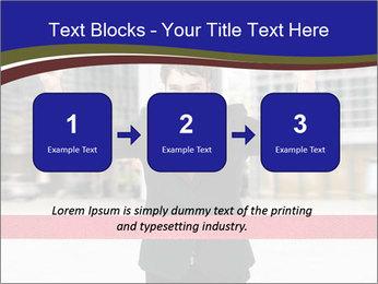 Active businessman running PowerPoint Template - Slide 71