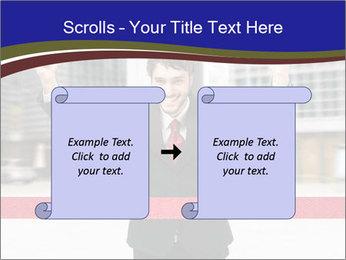 Active businessman running PowerPoint Template - Slide 74