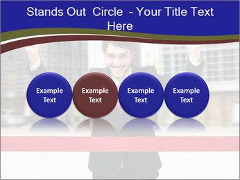 Active businessman running PowerPoint Template - Slide 76