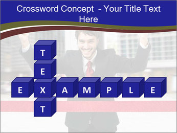 Active businessman running PowerPoint Template - Slide 82