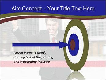 Active businessman running PowerPoint Template - Slide 83
