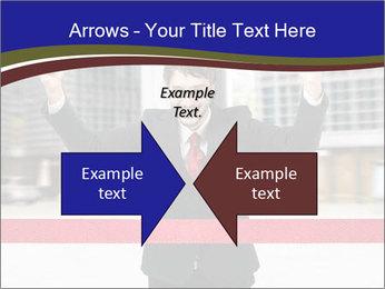 Active businessman running PowerPoint Template - Slide 90