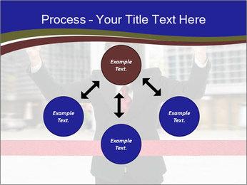 Active businessman running PowerPoint Template - Slide 91
