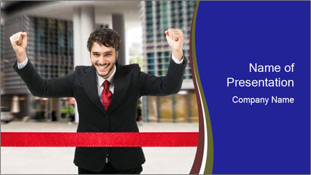 Active businessman running PowerPoint Template