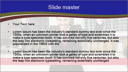 Active businessman running PowerPoint Template - Slide 2