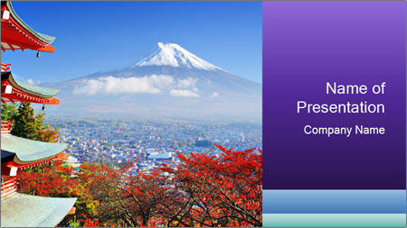 Colors in Japan PowerPoint Template