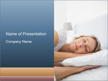 Woman asleep PowerPoint Template - Slide 1