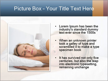 Woman asleep PowerPoint Template - Slide 13