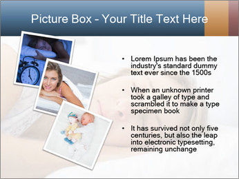 Woman asleep PowerPoint Template - Slide 17