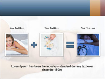 Woman asleep PowerPoint Template - Slide 22