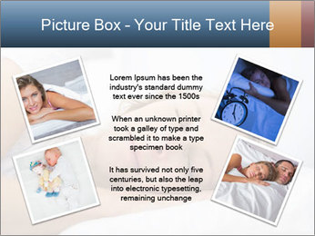 Woman asleep PowerPoint Template - Slide 24