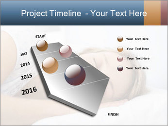 Woman asleep PowerPoint Template - Slide 26