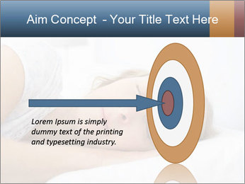 Woman asleep PowerPoint Template - Slide 83