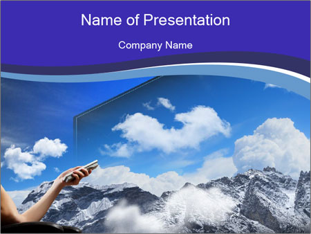 Image of young woman PowerPoint Templates