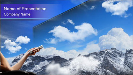 Image of young woman PowerPoint Template