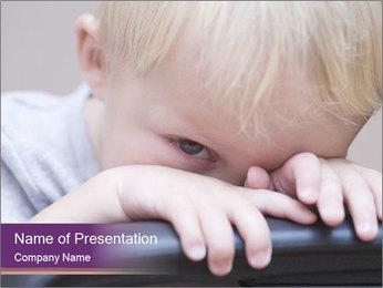 Baby boy PowerPoint Templates - Slide 1