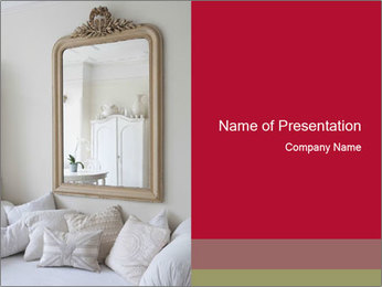 Framed mirror PowerPoint Template