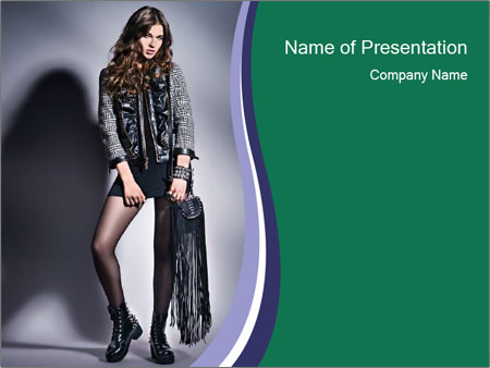 Rock girl PowerPoint Template