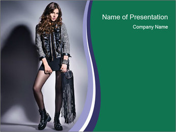 Rock girl PowerPoint Template - Slide 1