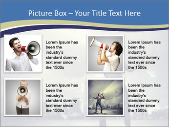 Man shouting loudly using megaphone PowerPoint Template - Slide 14
