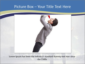 Man shouting loudly using megaphone PowerPoint Template - Slide 15