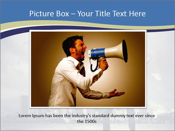 Man shouting loudly using megaphone PowerPoint Template - Slide 16