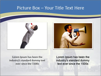 Man shouting loudly using megaphone PowerPoint Template - Slide 18