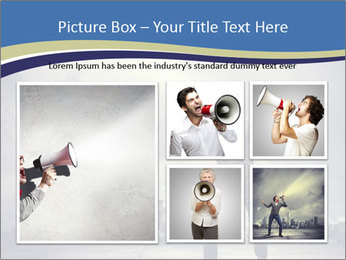Man shouting loudly using megaphone PowerPoint Template - Slide 19