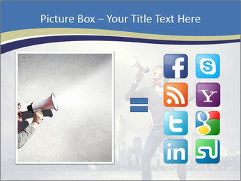 Man shouting loudly using megaphone PowerPoint Template - Slide 21