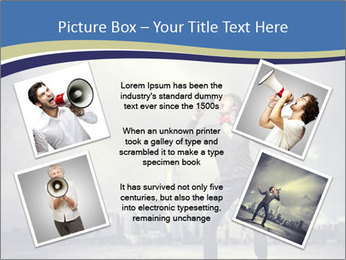 Man shouting loudly using megaphone PowerPoint Template - Slide 24
