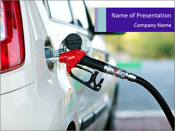 Gas station pump PowerPoint Templates - Slide 1