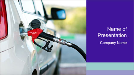Gas station pump PowerPoint Template