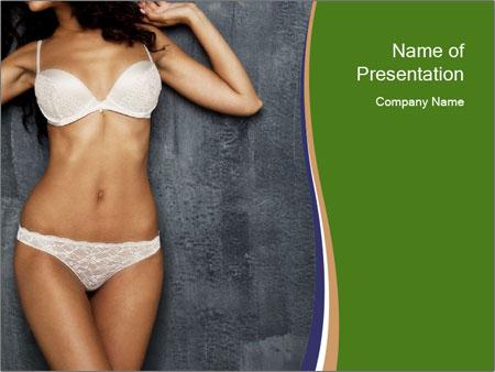 Sexy underwear body PowerPoint Template