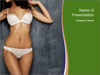 Sexy underwear body PowerPoint Templates - Slide 1