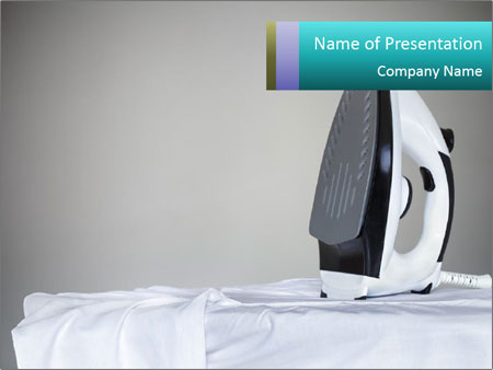 Ironing a white shirt PowerPoint Template