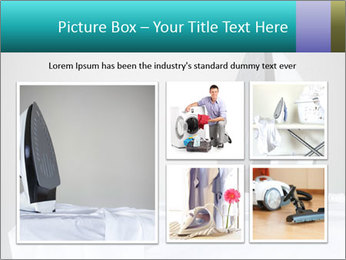 Ironing a white shirt PowerPoint Template - Slide 19