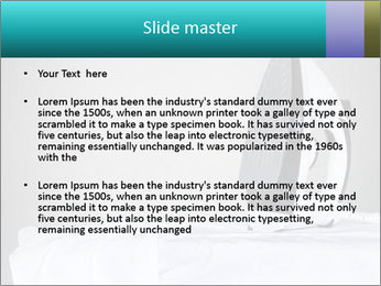 Ironing a white shirt PowerPoint Template - Slide 2