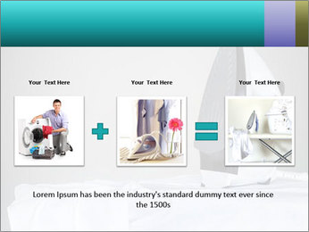 Ironing a white shirt PowerPoint Template - Slide 22