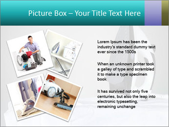 Ironing a white shirt PowerPoint Template - Slide 23