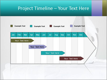 Ironing a white shirt PowerPoint Template - Slide 25