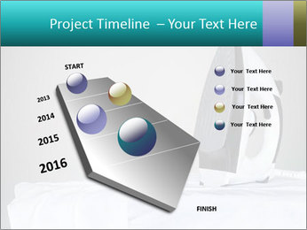 Ironing a white shirt PowerPoint Template - Slide 26