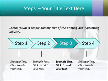 Ironing a white shirt PowerPoint Template - Slide 4