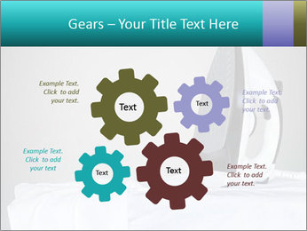 Ironing a white shirt PowerPoint Template - Slide 47
