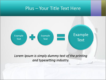 Ironing a white shirt PowerPoint Template - Slide 75